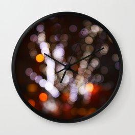 Tree Bokeh Wall Clock
