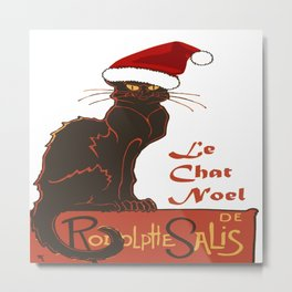 Le Chat Noel Christmas Vector Metal Print