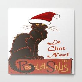 Le Chat Noel Christmas Vector Metal Print