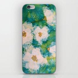 white blooms iPhone Skin