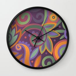 Summer leaves, heavy scented Wall Clock