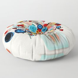 Rupydetequila Vase with flowers - Still Life Floral 2018 Floor Pillow