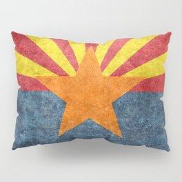 State flag of Arizona in Vintage Grunge Pillow Sham