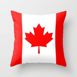 The National Flag of Canada, Authentic color and 3:5 scale version  Throw Pillow