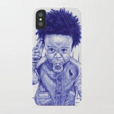 Afro Kid iPhone X Slim Case