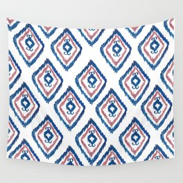 Rugged Royal - aztec watercolour pattern Wall Tapestry