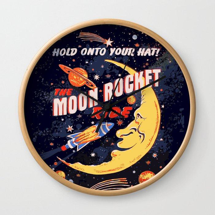 Rocket Moon Ride (vintage) Wall Clock