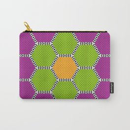 Vibrant honeycomb pattern with brilliant colours Carry-All Pouch