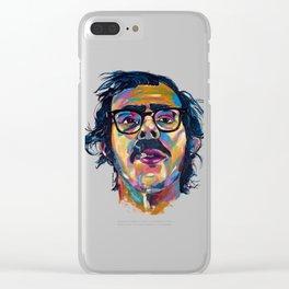 Chuck Close Clear iPhone Case