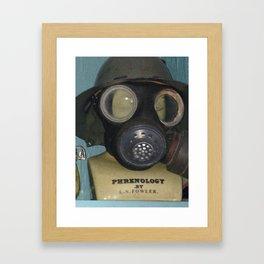 Phrenology's a gas Framed Art Print