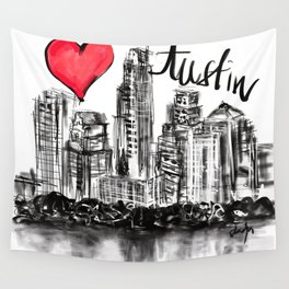 I love Austin Wall Tapestry