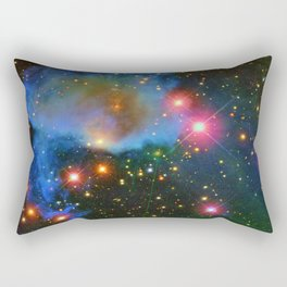 A Nebula showing off its colors Rectangular Pillow