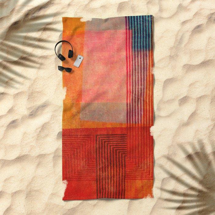 """A Morte do Velho Chico"" Inspired by the ""Quintet Amorial"" music. Beach Towel"
