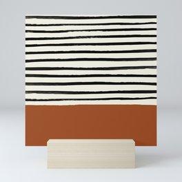Burnt Orange x Stripes Mini Art Print
