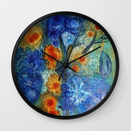 Over Bloom Wall Clock