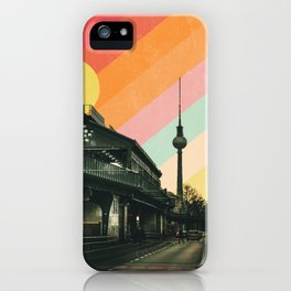 Vintage Berlin Cityscape Poster iPhone Case