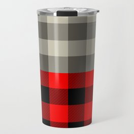 Vintage gingham and red buffalo pattern Travel Mug