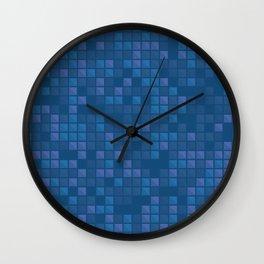 november blue geometric pattern Wall Clock