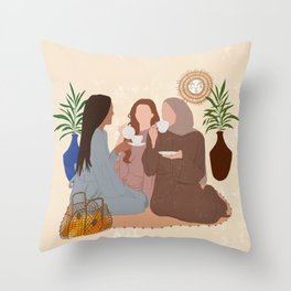 Sibling Goals / Sisters Love Throw Pillow