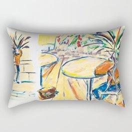X voYages de Zed (toile 17 - série 1) Rectangular Pillow