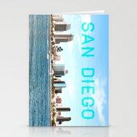 san diego Stationery Cards featuring San Diego  by Natasha Alexandra Englehardt