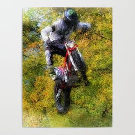 Extreme Biker - Dirt Bike Rider Poster