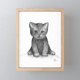 Little Black Kitten Framed Mini Art Print