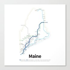 Highways of the USA – Maine Canvas Print