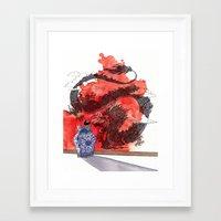 tintin Framed Art Prints featuring Tintin, Le Lotus Bleu by Renee Nault