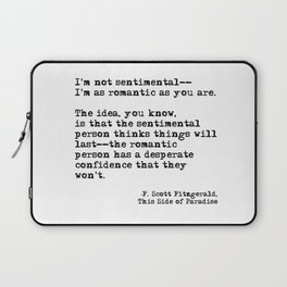The romantic person - F Scott Fitzgerald Laptop Sleeve