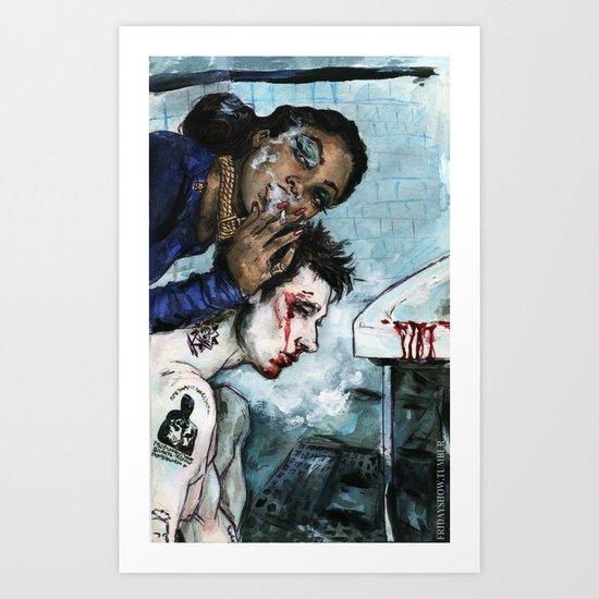 Naomi Campbell Art Print