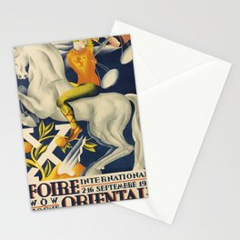xe foire orientale internationale. 1930  Affiche Stationery Cards
