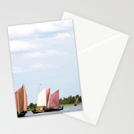 Summer sailing on Dutch Frisian lake Stationery Cards