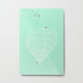 Falling Leaf Abstract  Metal Print