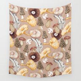 Mushroom Lovers Pattern Wall Tapestry