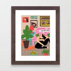 now what Framed Art Print