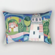 Island Lighthouse Rectangular Pillow