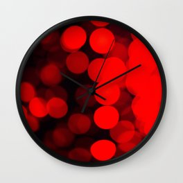 RED BOKEH Wall Clock