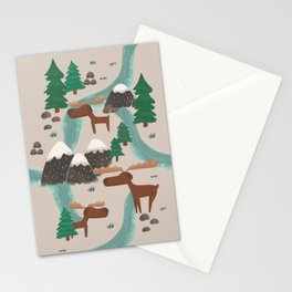 Moose in the Wildnerness Stationery Cards