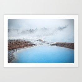 geyser Art Print