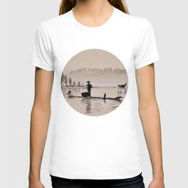 Sunrise Bird Fishing T-shirt