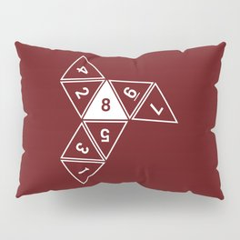 Red Unrolled D8 Pillow Sham