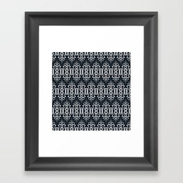 "Art Deco . ""Grey and gray . "" Framed Art Print"