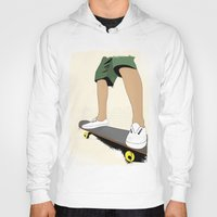 skate Hoodies featuring skate by the lazy pigeon