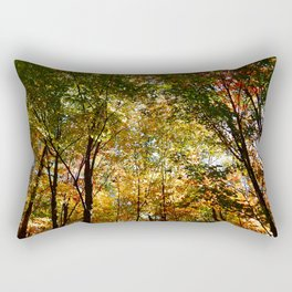 Through the Trees in October Rectangular Pillow