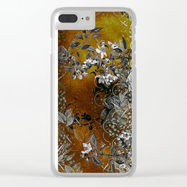 Amber Chinese Silk Clear iPhone Case