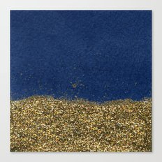 Dipped in Gold, Navy Canvas Print