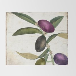 Olive Branch II Throw Blanket
