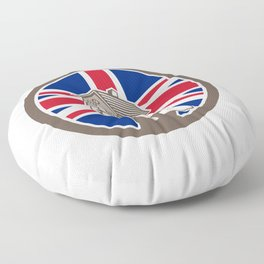 British House Removal Union Jack Flag Icon Floor Pillow