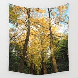 Ginkgo biloba trees Wall Tapestry